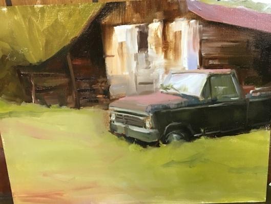Old black Ford